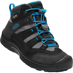 Keen Hikeport Mid WP Sko Børn, black/blue jewel